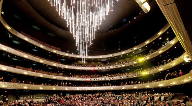 The Moody Foundation Chandelier in Margaret McDermott Performance Hall