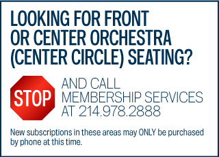 STOP Call Membership Services for Center Circle Seating