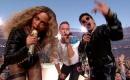 Beyonce, Chris Martin and Bruno Mars at Super Bowl 50