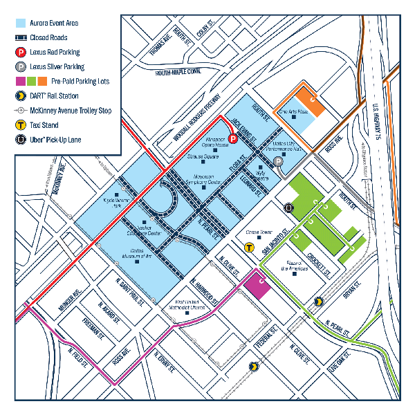Aurora Parking Map