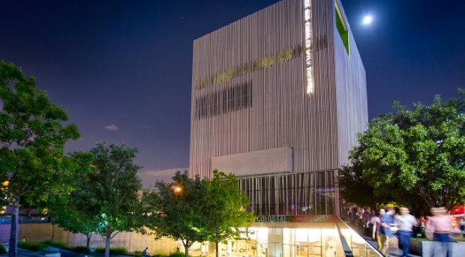 Wyly Theatre, exterior, night, by Carter Rose.jpg