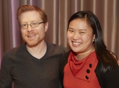 Nellie with actor Anthony Rapp